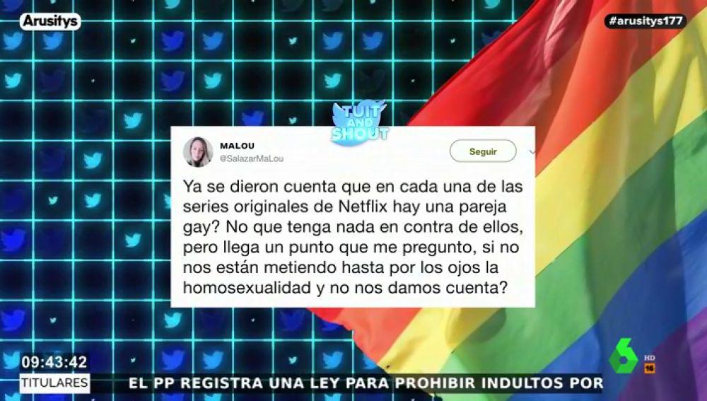 """Ana Millán, a una tuitera que critica la presencia de """"parejas gays en las series"""": """"Eso está normalizado para alguien que tenga dos dedos de frente"""""""