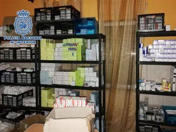 Medicamentos intervenidos por la Policía