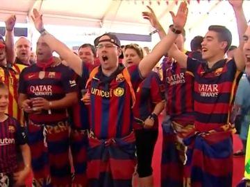 """La afición del Barcelona no se olvida de Anfield en la final de Copa: """"Pesa, pesa mucho"""""""