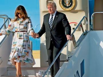 El presidente de EEUU, Donald Trump, inició una visita oficial a Japón para conocer al nuevo emperador, Naruhito