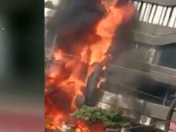 Incendio en una academia en la India