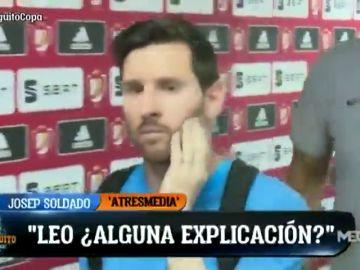 Leo Messi, resignado tras perder la final de Copa: el gesto que delata su estado en zona mixta