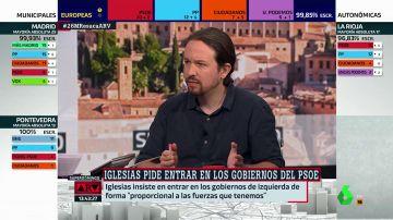 """Pablo Iglesias: """"Sumando los votos de Madrid en Pie con Mas Madrid y PSOE no hubiera sido suficiente para frenar a la derecha"""""""