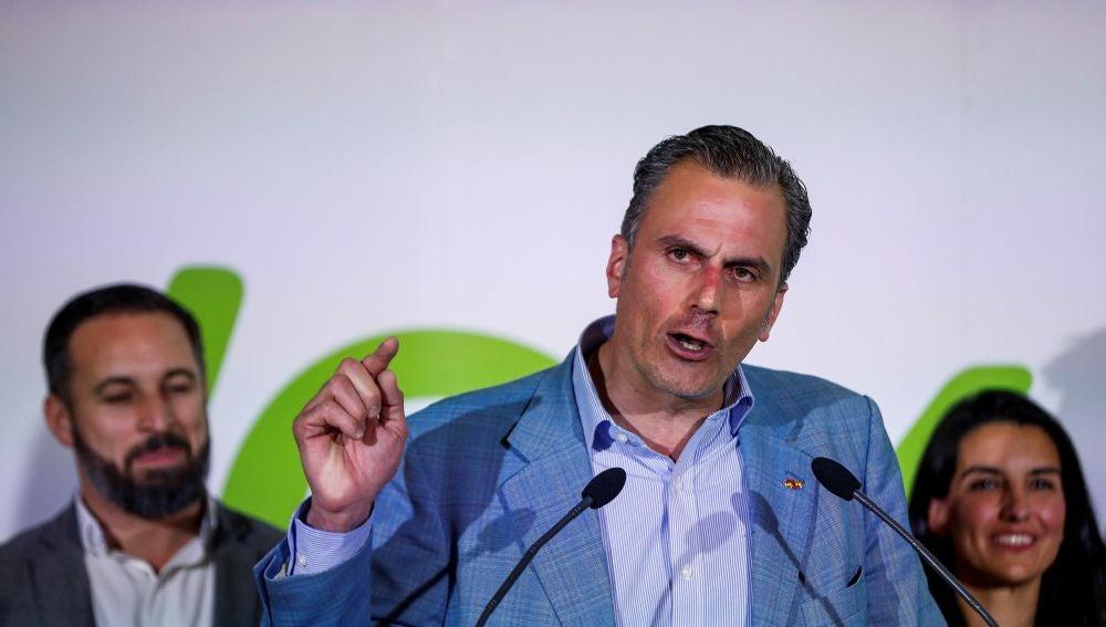 El secretario general de Vox y candidato la Alcaldía de Madrid, Javier Ortega Smith