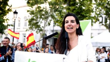 La candidata de Vox a la Presidencia de la Comunidad de Madrid, Rocío Monasterio
