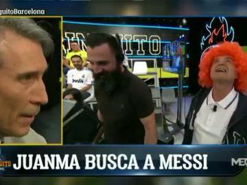 """El 'show' de Juanma Rodríguez con una peluca naranja: """"¡Shiquetito! ¿Dónde estás?"""""""