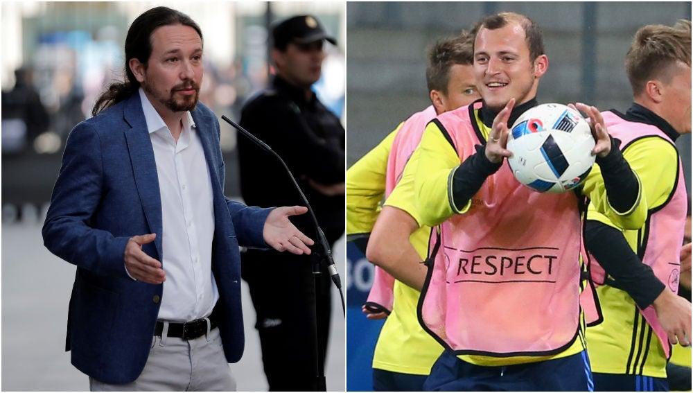 Pablo Iglesias y Roman Zozulya