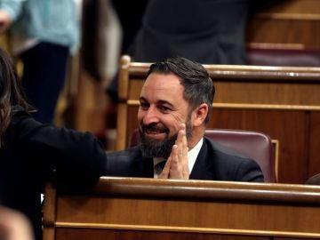 Santiago Abascal, durante la sesión constitutiva del Congreso