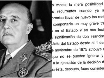 Montaje de Franco y el Tribunal Supremo