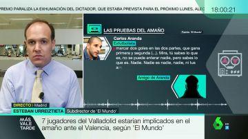 """Esteban Urreiztieta, sobre la 'Operación Oikos: """"Con las escuchas queda claro que conocían el resultado del partido antes de celebrarse"""""""