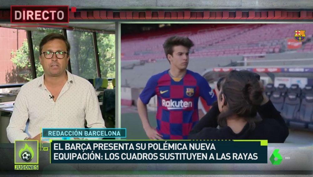 El Barça presenta su camiseta a cuadros