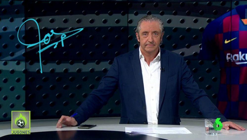 """Josep Pedrerol: """"Ojo, la nueva camiseta a cuadros del Barça no es fea. Pero… no es el Barça""""."""
