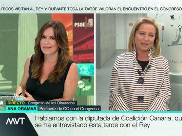 """Ana Oramas: """"No vamos a apoyar ni con voto a favor ni con abstención un Gobierno del PSOE con Podemos"""""""