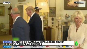 El guiño de Camila Parker Bowles a espaldas de Trump