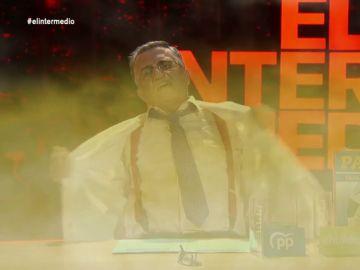 El plató de El Intermedio se inunda de humo tras experimentar con el pacto entre el PP y EH Bildu