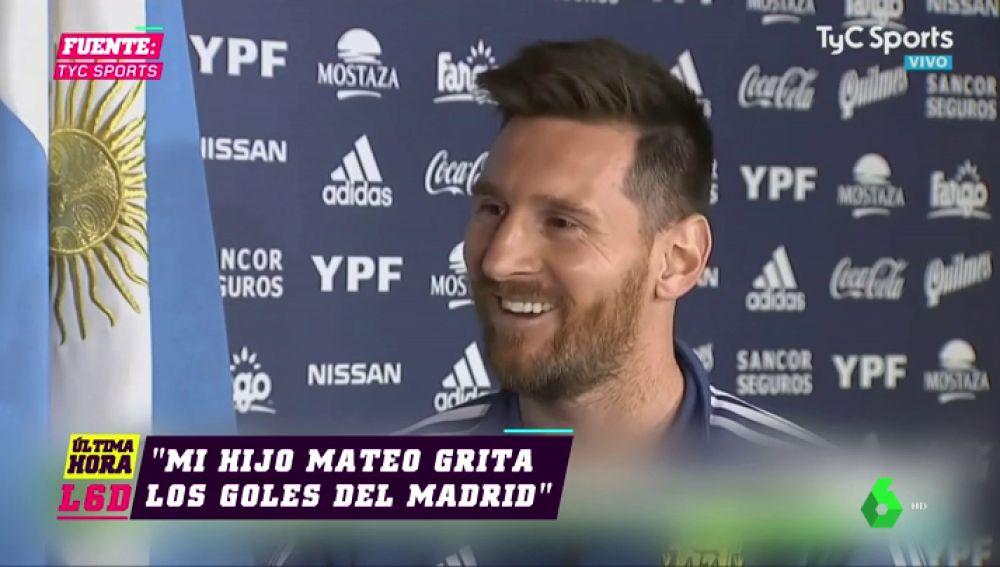 "El 'troleo' del hijo de Messi: ""Me dice 'yo soy del Liverpool', 'soy del Valencia', grita los goles del Madrid..."""