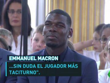 """La viral reacción de Pogba en el discurso de Macron: """"¿Qué significa eso? No lo sé"""""""