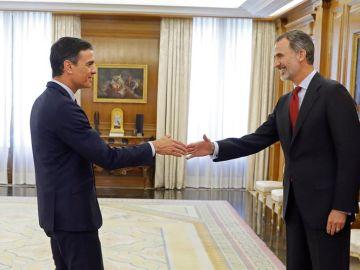 Pedro Sánchez se reúne con el Rey Felipe VI