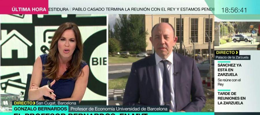 """Gonzalo Bernardos: """"No me creo que la mayoría gane el sueldo medio español"""""""