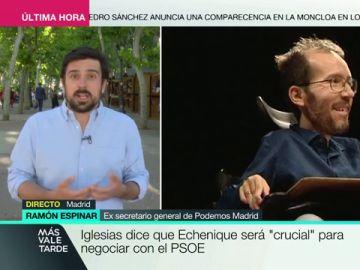 """Ramón Espinar: """"Los problemas de Unidas Podemos no se van a resolver cortando cabezas"""""""