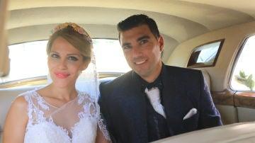 José Antonio Reyes, junto a su mujer Noelia López