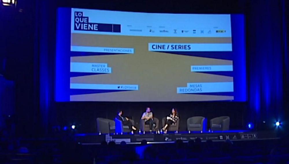 Imagen del Festival de Tudela donde se presentan las series y películas de Atresmedia
