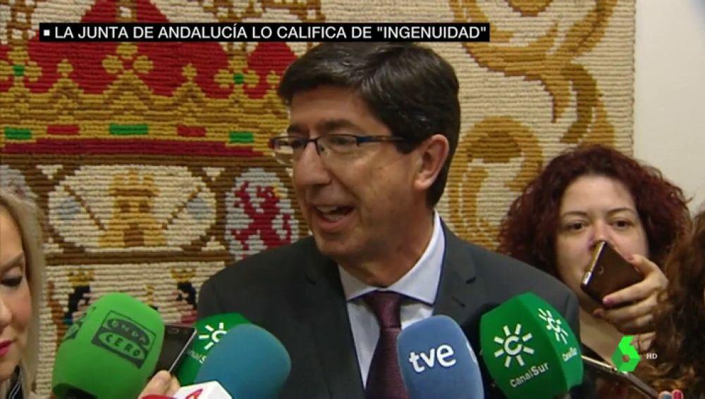 El vicepresidente de la Junta, Juan Marín