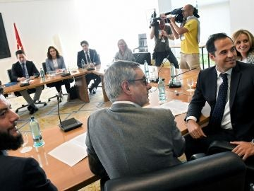 Imagen de la reunión entre PP y Ciudadanos en Madrid