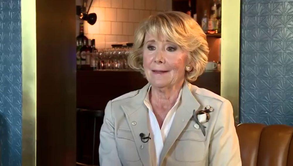 La expresidenta del PP de Madrid, Esperanza Aguirre