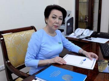 Daniya Yespáyeva en su despacho