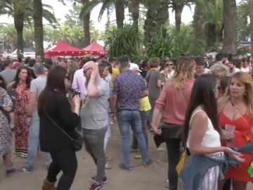 Imagen de la celebración de la fiesta de 'Los Palomos' en Badajoz