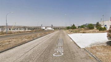 Inmediaciones en las que un trabajador muerto en Toledo