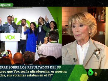 """Esperanza Aguirre: """"Yo no creo que Vox sea ultraderecha, es nuestra derecha"""""""