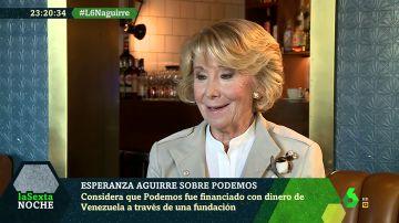 """Esperanza Aguirre: """"El señor Montoro le perdonaba todo al señor Monedero pero a mi nada"""""""