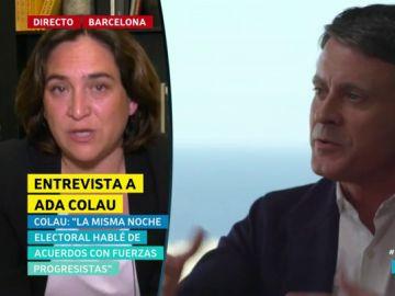 """Ada Colau, sobre el posible apoyo de Manuel Valls: """"Todos los votos que vengan bienvenidos sean a la investidura"""""""