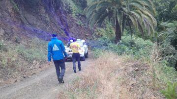 Rescate por el AEA de un hombre en un barranco de La Gomera