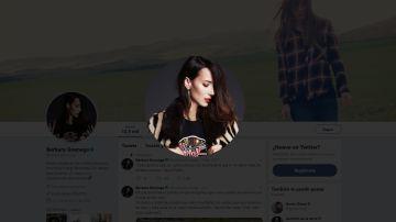 Twitter de la actriz Bárbara Goenaga