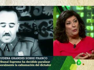 """Almudena Grandes critica la paralización de la exhumación de Franco: """"El Supremo toma postura a favor de la dictadura"""""""