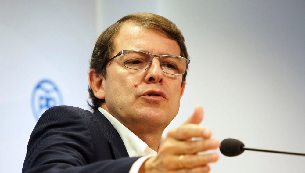 El candidato del PP a la Presidencia de la Junta, Alfonso Fernández Mañueco