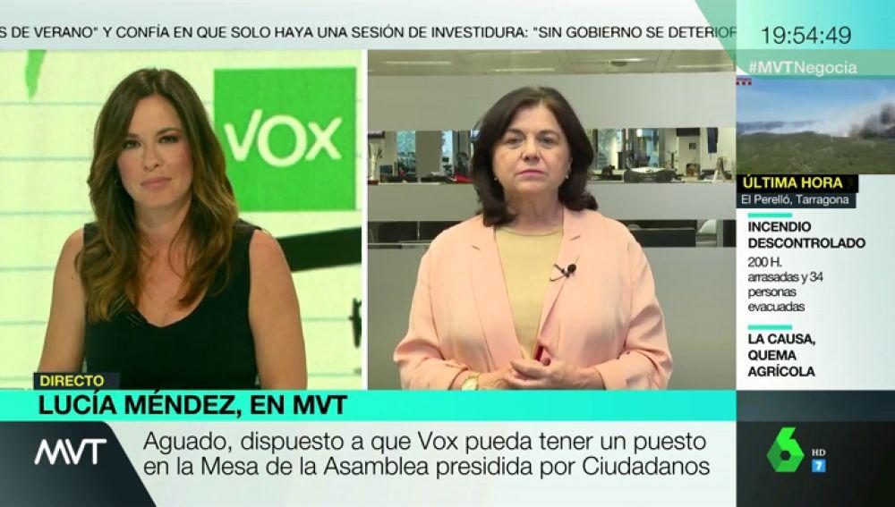 """Lucía Méndez: """"Ciudadanos ya ha tomado una decisión, apostar por el PP y Vox"""""""