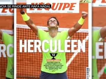 Francia se rinde ante Nadal tras su 12º Roland Garros: 'l'extra-terrestre y herculéen'