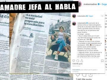 Laura Baena (Malamadre Jefa) denuncia en Instagram la publicación de una entrevista fuera de contexto.