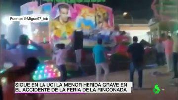 Una niña de 13 años permanece grave en la UCI tras partirse en dos una atracción en la Rinconada, Sevilla