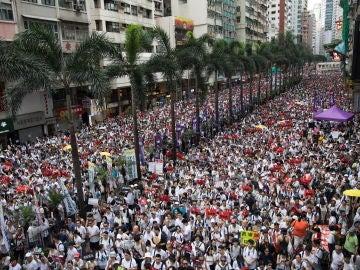Disturbios en Hong Kong tras la masiva protesta contra la nueva ley de extradiciones a China