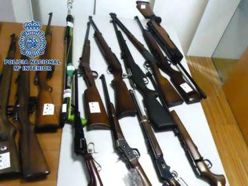 Armas de fuego intervenidas en Galicia