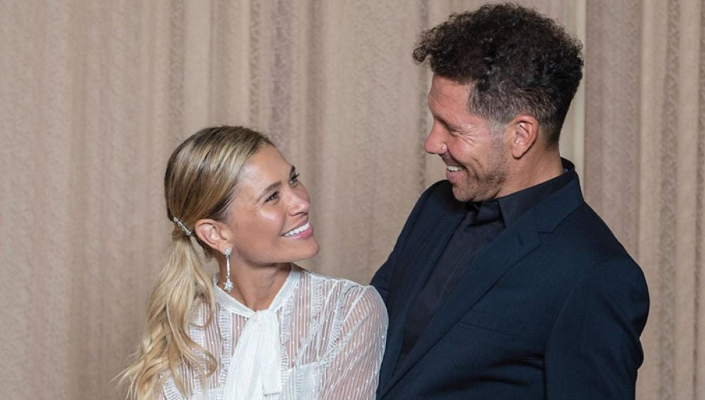 Simeone, con Carla Pereyra