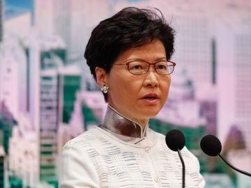 La jefa del Ejecutivo de Hong Kong, Carrie Lam