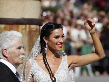 Pilar Rubio, con su traje de boda