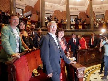 Joan Ribó en el pleno de elección del alcalde de Valencia