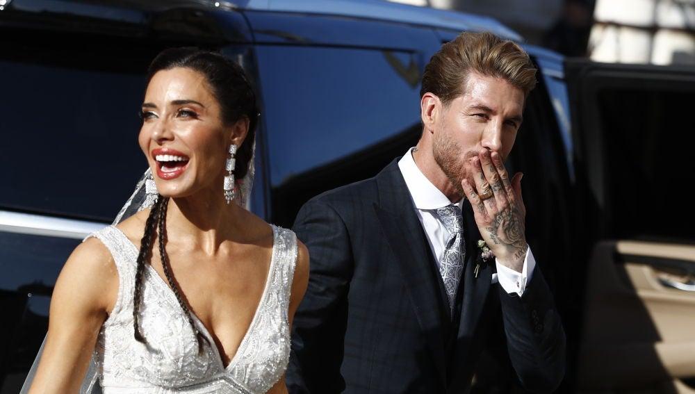 Los recién casados Pilar Rubio y Sergio Ramos